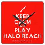 [Skateboard] keep calm and play halo reach  Wall Clocks