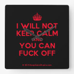 [Crown] i will not keep calm and you can fuck off  Wall Clocks