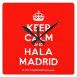 [Crown] keep calm and hala madrid  Wall Clocks