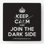 [Crown] keep calm and join the dark side  Wall Clocks