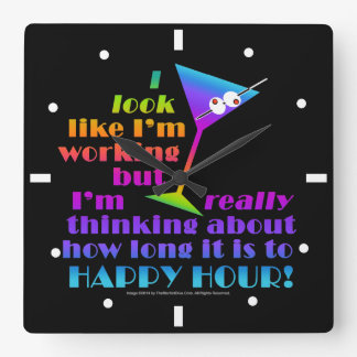 Wall Clocks - How Long to Happy Hour
