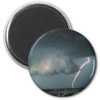 Wall cloud with lightning 2 inch round magnet