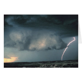 Wall cloud with lightning card