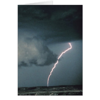 Wall cloud with lightning cards