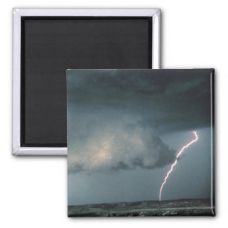 Wall cloud with lightning refrigerator magnets