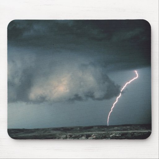 Wall cloud with lightning mousepad
