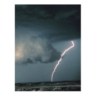Wall cloud with lightning postcards