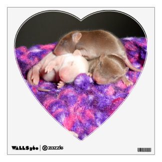 Wall Decal: 3 baby mice Wall Decal