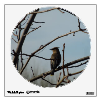 Wall Decal: Bird on Bare Tree Limb Wall Decals