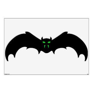 Wall Decal - Black Bat Green Eyes