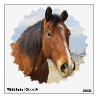 Wall Decal--Brown Horse Side Wall Decal