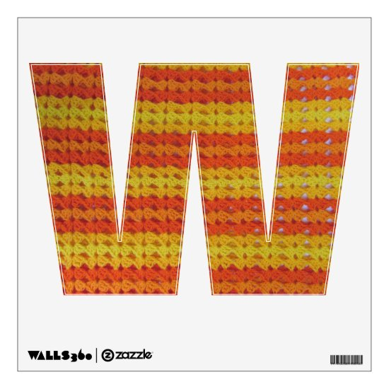 Wall Decal - Crochet Stripes in Orange and Yellow