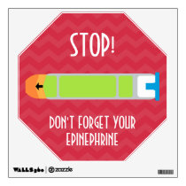 Wall Decal Epinephrine Reminder for Allergies