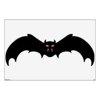 Wall Decal - Halloween Bat with Orange Eyes