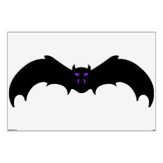 Wall Decal - Halloween Bat with Purple Eyes