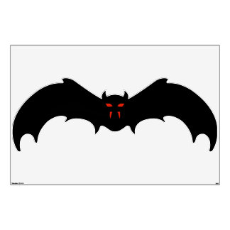 Wall Decal - Halloween Bat with Red Eyes