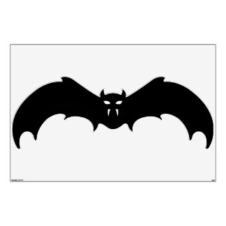 Wall Decal - Halloween Bat with White Eyes