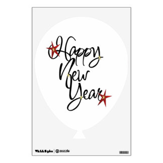Wall Decal - HAPPY NEW YEAR BALLOON (Removable)