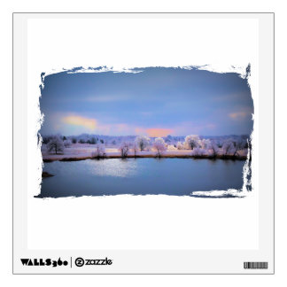 Wall Decal, Icy Pond and Willows in Pastel Wall Decal