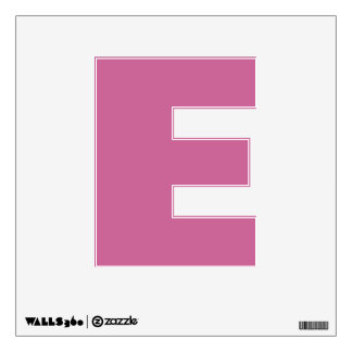 Wall Decal Letter E