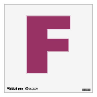 Wall Decal Letter F
