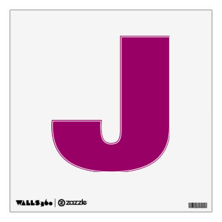 Wall Decal Letter J