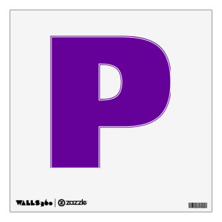 Wall Decal Letter P