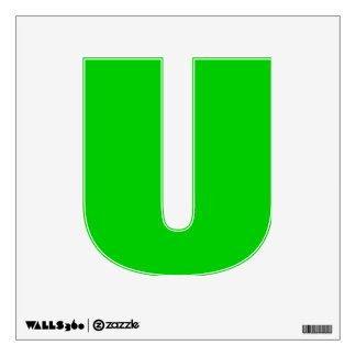 Wall Decal Letter U