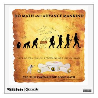 Wall Decal Math Smart Caveman Advance Mankind
