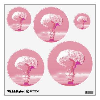 Wall decal mushroom cloud  pink