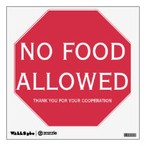 Wall Decal No Food Allowed