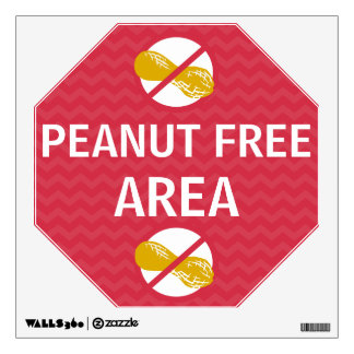 Wall Decal Peanut Free Area Sign