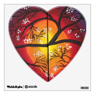 wall decal scenery heart shaped