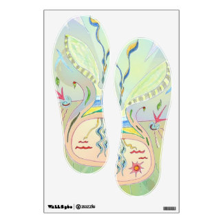Wall Decal - Seed Art in Footprints