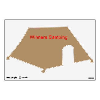 Wall decal tent gold
