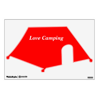 Wall Decal tent red