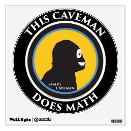 Wall Decal This Smart Caveman Does Math