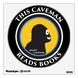 Wall Decal This Smart Caveman Reads Books