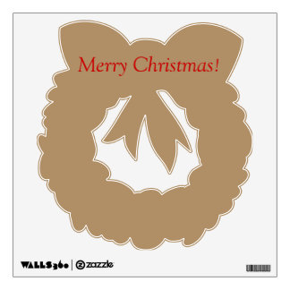 Wall decal with golden wreath