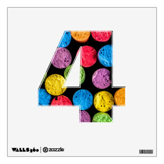 Wall decal with number 4