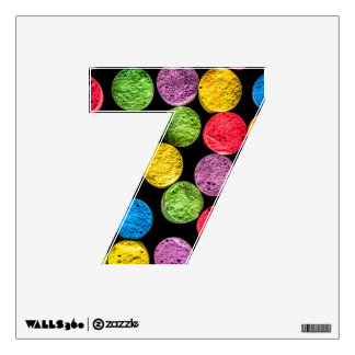 Wall decal with number 7