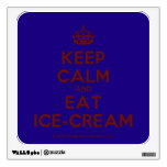 [Crown] keep calm and eat ice-cream  Wall Decals