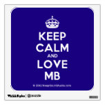 [Crown] keep calm and love mb  Wall Decals