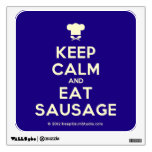 [Chef hat] keep calm and eat sausage  Wall Decals