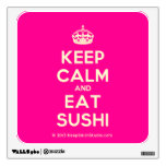 [Crown] keep calm and eat sushi  Wall Decals