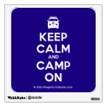 [Campervan] keep calm and camp on  Wall Decals