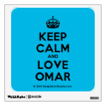 [Crown] keep calm and love omar  Wall Decals