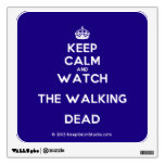 [Crown] keep calm and watch the walking dead  Wall Decals