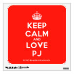 [Crown] keep calm and love pj  Wall Decals