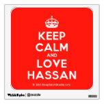 [Crown] keep calm and love hassan  Wall Decals